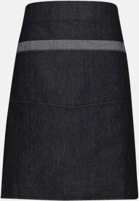 Black Denim (midjeförkläde) Denimförkläden i 2 varianter med reklamtryck