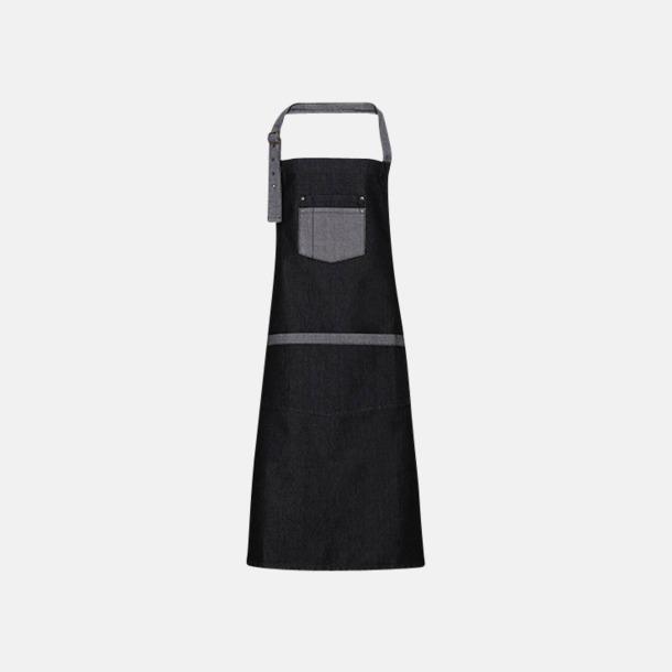Black Denim (köksförkläde) Denimförkläden i 2 varianter med reklamtryck