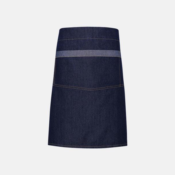 Indigo Denim (midjeförkläde) Denimförkläden i 2 varianter med reklamtryck