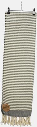Svart/Ivory Traditionella, vävda handdukar med reklamlogo