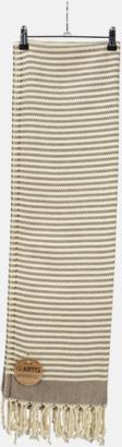 Brun/Ivory Traditionella, vävda handdukar med reklamlogo