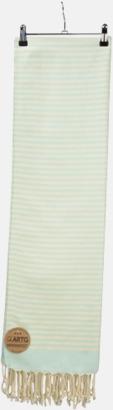 Mint Green/Ivory Traditionella, vävda handdukar med reklamlogo