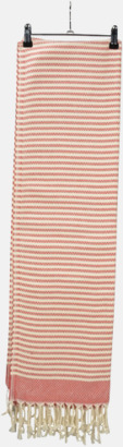 Röd/Ivory Traditionella, vävda handdukar med reklamlogo