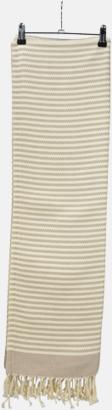 Sand/Ivory Traditionella, vävda handdukar med reklamlogo