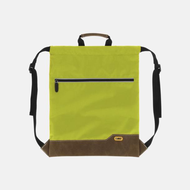 Apple Green Dragskoförsedda ryggsäckar med reklamtryck