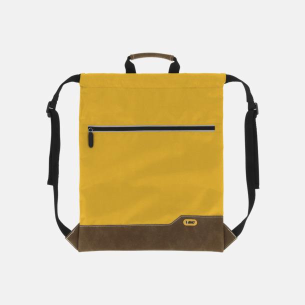 Gul Dragskoförsedda ryggsäckar med reklamtryck