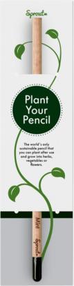 Förtryckt singelförpackning, framsida (se tillval) Planterbara pennor från BIC med reklamtryck