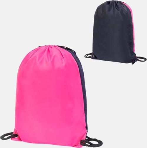 Hot Pink/Svart Flerfärgade gympapåsar med reklamtryck