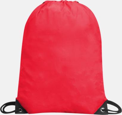 Röd Förgyllda gympapåsar med reklamtryck