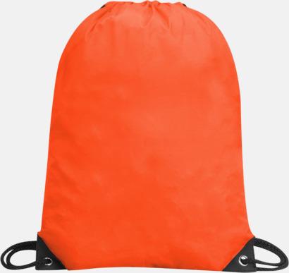 Orange Förgyllda gympapåsar med reklamtryck