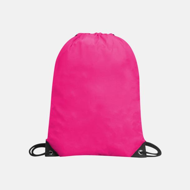 Hot Pink Förgyllda gympapåsar med reklamtryck