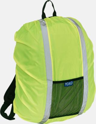 Hi-Vis Yellow Synliga överdrag för ryggsäckar - med reklamtryck