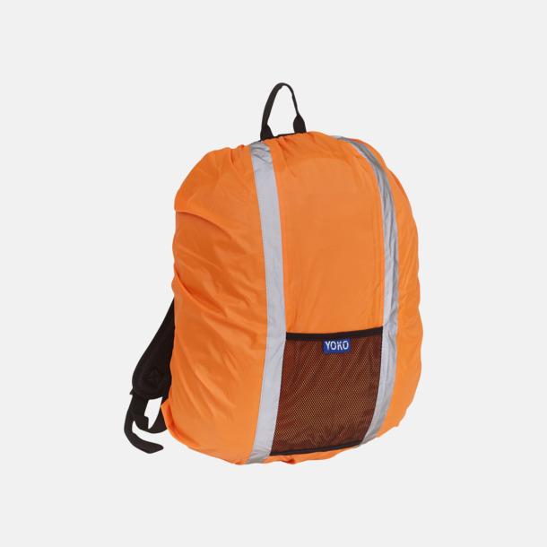 Hi-Vis Orange Synliga överdrag för ryggsäckar - med reklamtryck