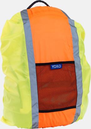 Hi-Vis Yellow/Hi-Vis Orange Synliga överdrag för ryggsäckar - med reklamtryck