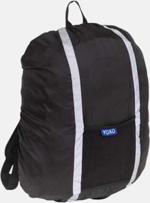 Svart Synliga överdrag för ryggsäckar - med reklamtryck