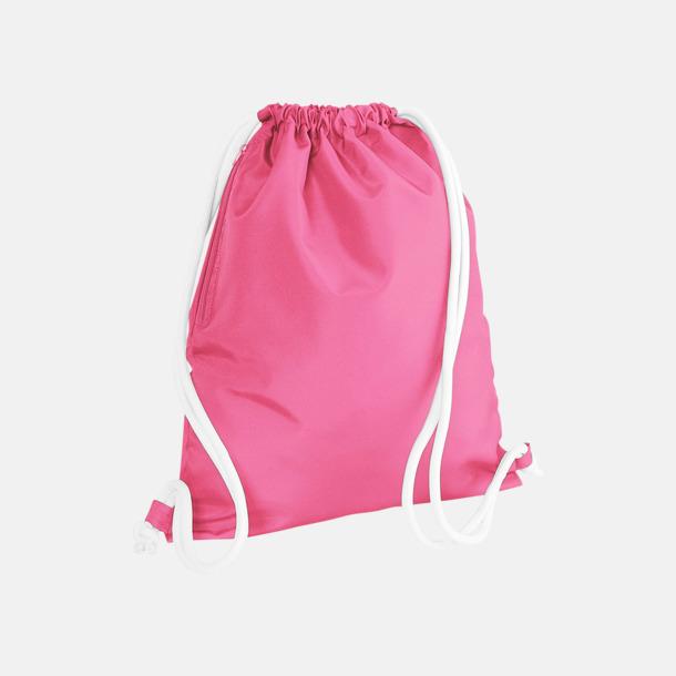 True Pink/Vit Gympapåsar i spännande färgkombinationer med reklamtryck