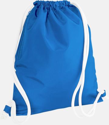 Sapphire Blue/Vit Gympapåsar i spännande färgkombinationer med reklamtryck