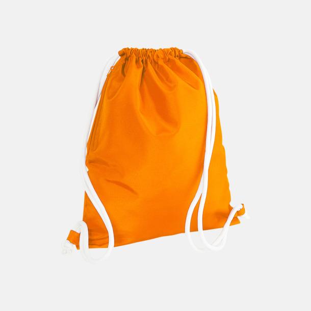 Orange/Vit Gympapåsar i spännande färgkombinationer med reklamtryck