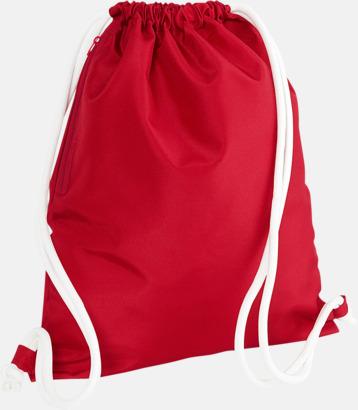 Classic Red/Vit Gympapåsar i spännande färgkombinationer med reklamtryck