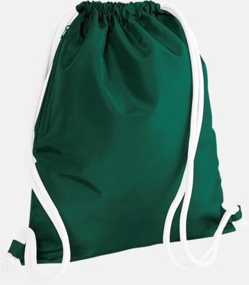 Bottle Green/Vit Gympapåsar i spännande färgkombinationer med reklamtryck