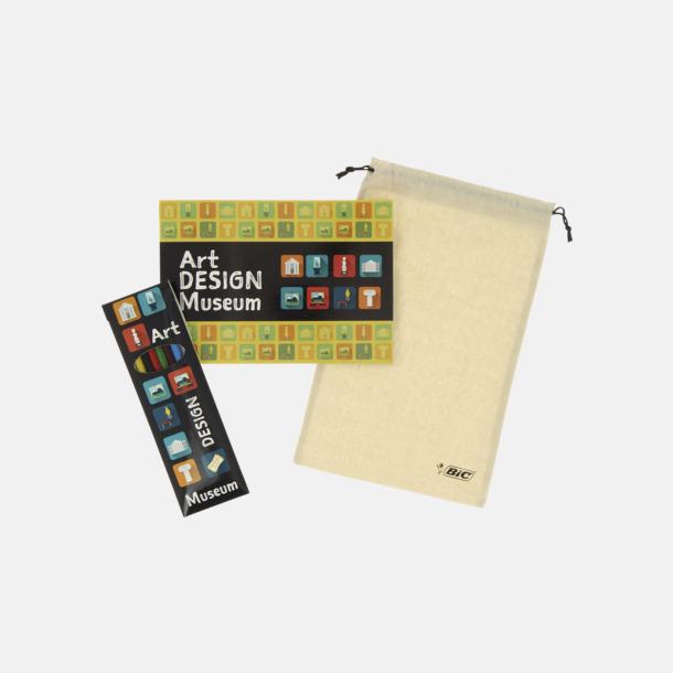 Tryck på förpackning & fodral Målarbok med färgpennor från BIC med reklamtryck