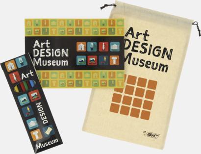 Tryck på förpackning, fodral & påse Målarbok med färgpennor från BIC med reklamtryck