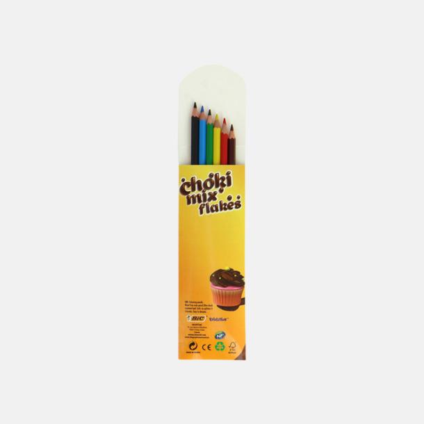 Miljö färgpennor i förpackning med reklamtryck