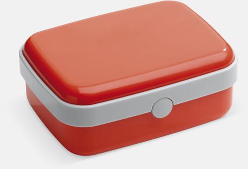 Röd Vita lunchlådor med reklamtryck