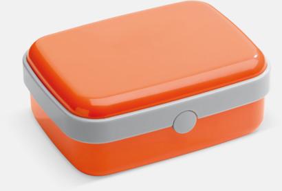 Orange Vita lunchlådor med reklamtryck