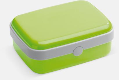 Ljusgrön Vita lunchlådor med reklamtryck