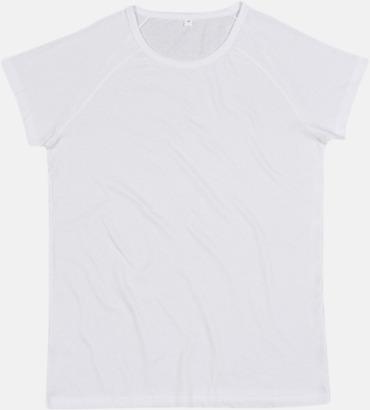 Vit Unisex eko t-shirts med reklamtryck