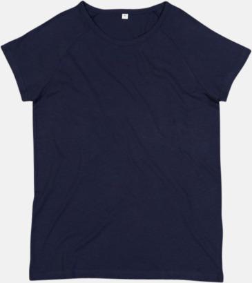 Marinblå Unisex eko t-shirts med reklamtryck