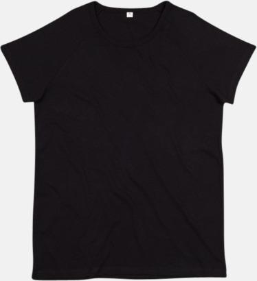 Svart Unisex eko t-shirts med reklamtryck