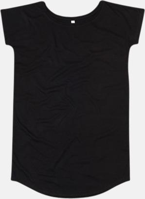 Svart Långa t-shirts i ekobomull med reklamtryck