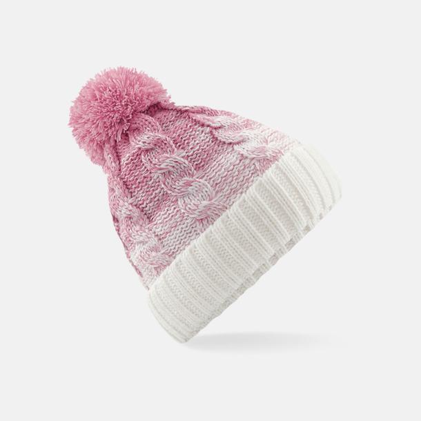 Dusky Pink/Off White Färgskiftande mössor med reklamtryck