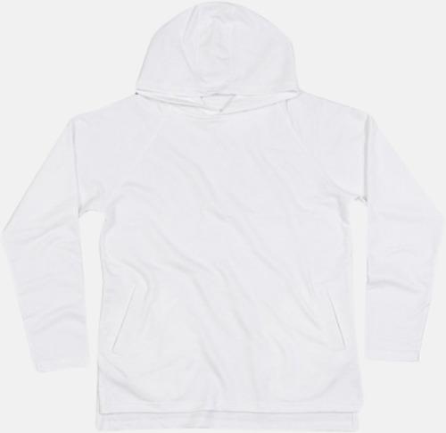 Vit Eko unisex hoodies med reklamtryck
