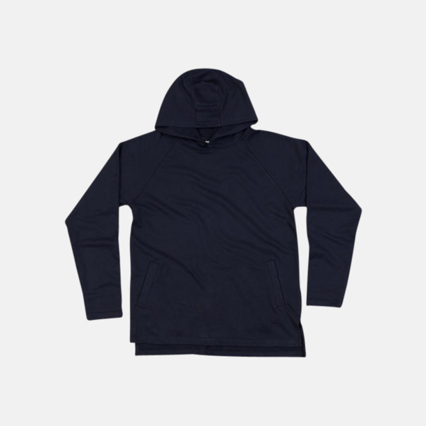 Marinblå Eko unisex hoodies med reklamtryck