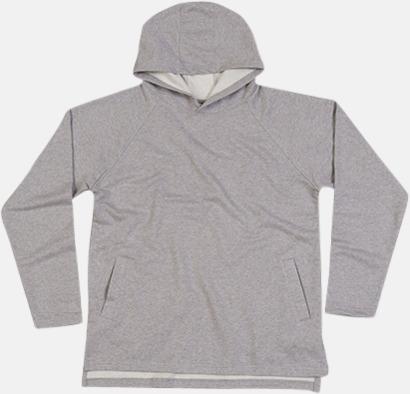 Heather Grey Melange Eko unisex hoodies med reklamtryck