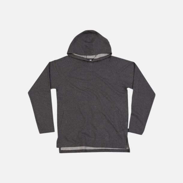 Charcoal Grey Melange Eko unisex hoodies med reklamtryck