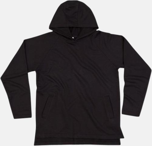 Svart Eko unisex hoodies med reklamtryck