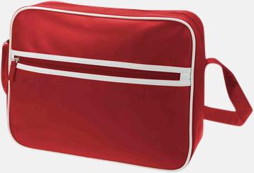 Röd Retro axelväska från Halfar med reklamtryck