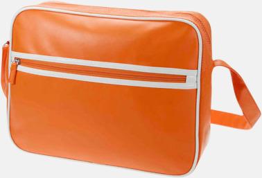 Orange Retro axelväska från Halfar med reklamtryck