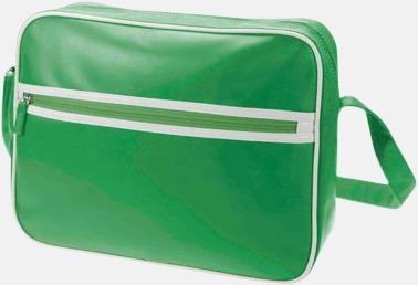 Grön Retro axelväska från Halfar med reklamtryck