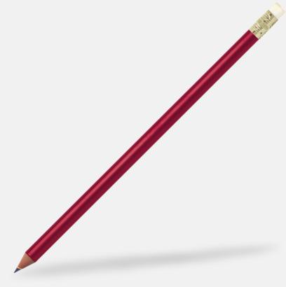 Röd Miljövänliga blyertspennor med reklamtryck