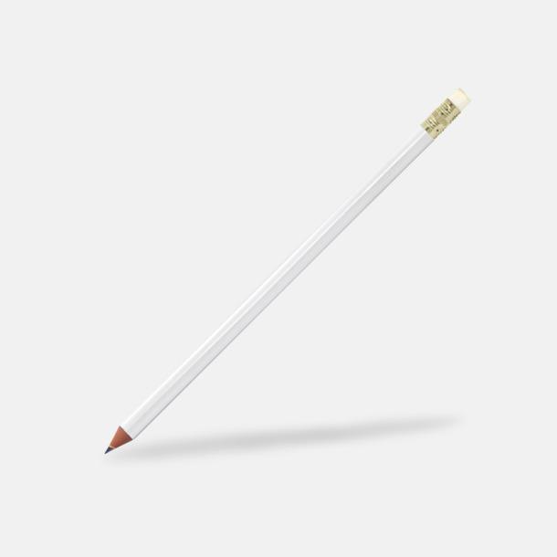 Vit Miljövänliga blyertspennor med reklamtryck