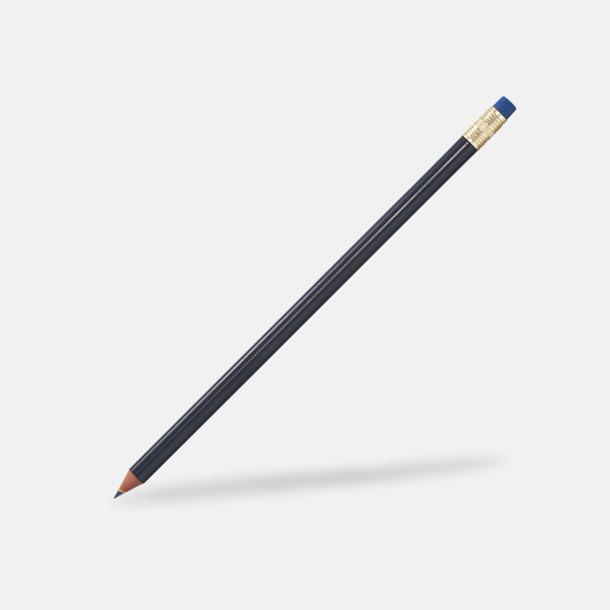 Svart / Guld Miljövänliga blyertspennor med reklamtryck