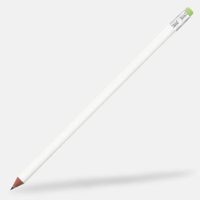 Vit / Silver Miljövänliga blyertspennor med reklamtryck