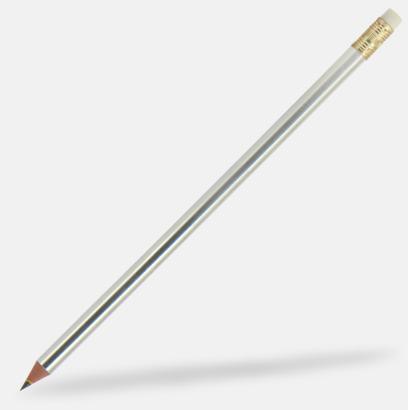 Silver (se tillval) Miljövänliga blyertspennor med reklamtryck