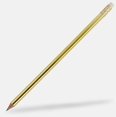 Gold (se tillval) Miljövänliga blyertspennor med reklamtryck