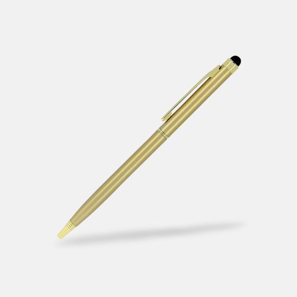 Guld Styluspennor i metall från Bic med reklamtryck